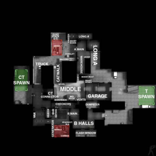Обозначение точек на карте Cache