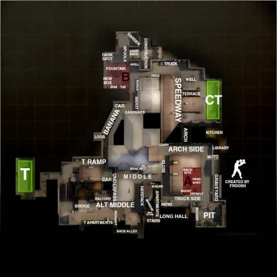 Обозначение точек на карте Inferno