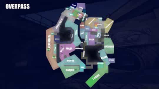 Обозначение точек на карте Overpass на русском
