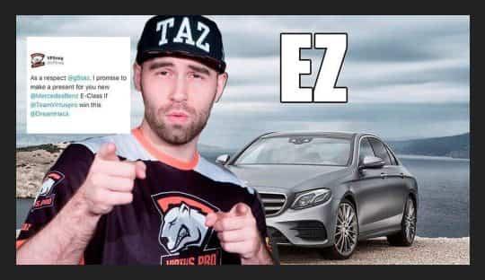TaZ получил свой Mrcedes за победу